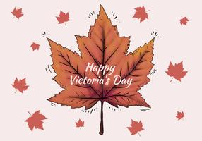 Watercolor Leaves for Canada Victoria Day Vector