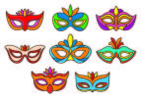 Set Of Masquerade Ball Vectors