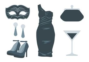 Masquerade Ball Icons Vector