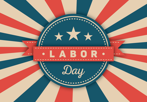 Labor Day Vector Badge