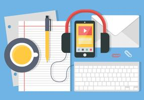 Free Vector Flat Design Office Accessories