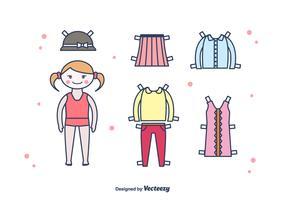 Paper Doll Vector Set