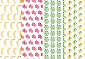 Vector Colourful Fruits Patterns