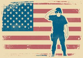 Grunge Memorial Day Illustration