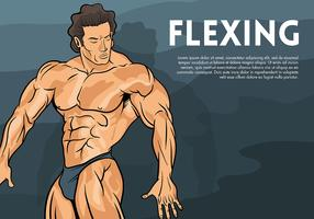 Flexing Vector Background