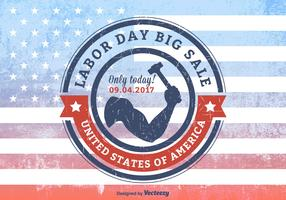 USA Labor Day Big Sale Grunge Rubber Stamp