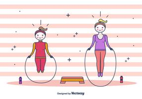 Skipping Rope Vector Background