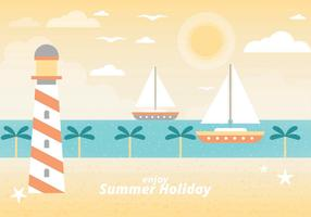 Free Summer Vacation Vector Landscape