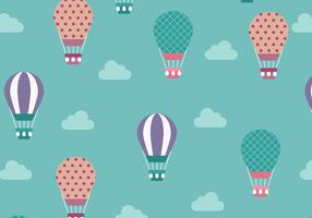 Cute Hot Air Balloon Pattern Vector