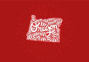 Oregon state lettering