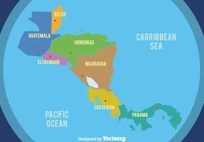 Nice Central America Map Vector