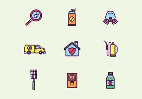 Colorful Outlined Pest Control Icons