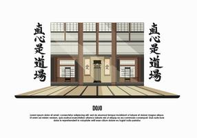 Dojo Room Background Vector Illustration