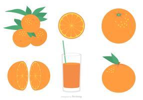 Flat Clementine Vector Set