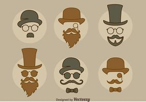 Man Retro Style Collection Vector