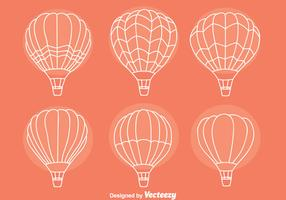 Sketch Hot Air Balloon Collection Vectors