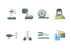 Metalworking Icon Set