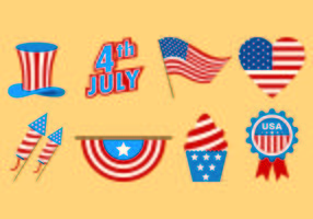 Set Of Independence Day Icons