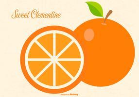 Flat Clementine Illustration