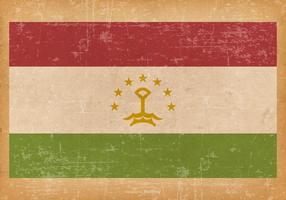 Grunge Flag of Tajikistani