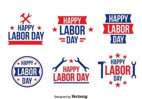 Happy Labor Day Logo Vectors