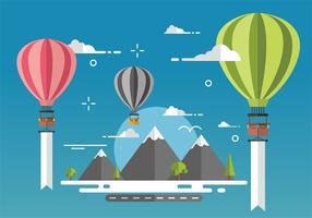 Hot Air Balloon Vector Design Background