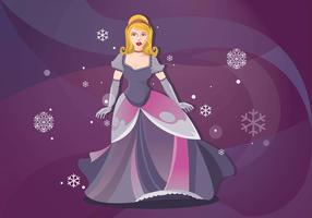 Dressed Up Princesa for Evening Gala Vector Background