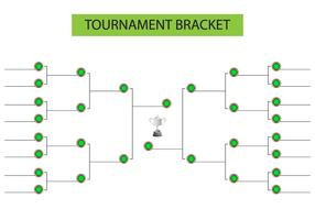 Tournament Bracket Blank Template Vector