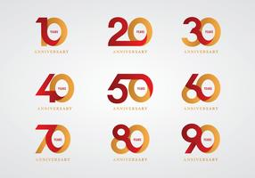 Anniversaire Logo Vector