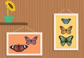 Free Mariposa In Frame Illustration