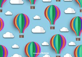 Hot Air Balloon Icon Beautiful Seamless Pattern
