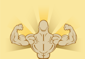 Flexing Man Background Vector