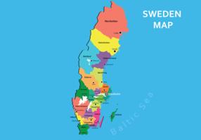 Sweden Map Vector