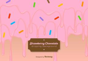 Strawberry Yogurt Drips Background