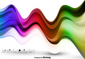 Vector Colorful Abstract Waves Poster
