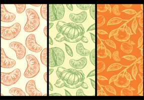 Clementine Pattern Background