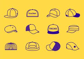 Stroke Line Trucker Hats Icon