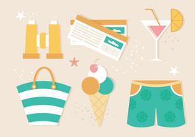 Free Flat Design Vector Summer Illustration