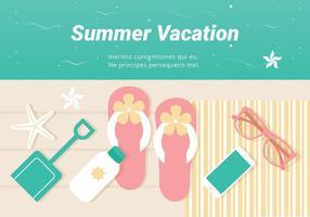 Free Summer Vacation Vector Illustration