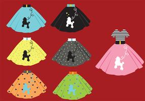 Poodle Skirt Vector Pack