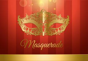 Masquerade Ball Gold and Red Free Vector