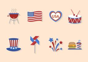 Flat USA Independence Day Vectors