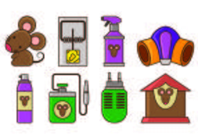 Set Of Mouse Trap Icons