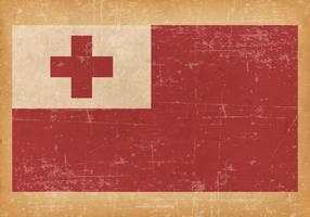 Old Grunge Flag of Tonga
