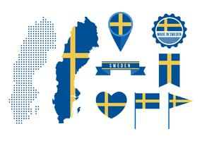 Free Sweden Map and Graphic Elements