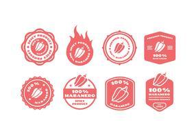 Habanero vector badge