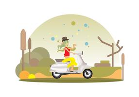 Lambreta Ride Vector Background