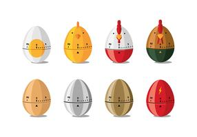 Egg Timer Cartoon Free Vector