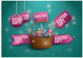 Free Easter Gift Tag Vector