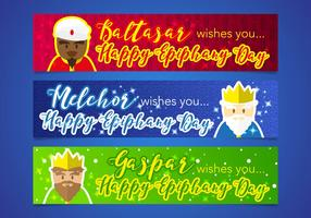 Epiphany Kings Magic Banners Vector